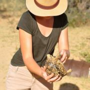 lady with turtle